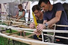 Aufbau der Holzstruktur